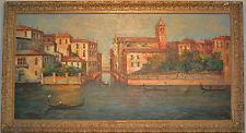 """oil painting Venice Italy  large 52""""x 28"""" T L Novaretti"""
