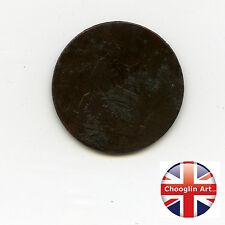 A British Bronze 1861 VICTORIA HALFPENNY Coin           (ref 1861:133/134)