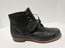 Wolverine 1000 Mile Fashion Boots, Black Leather, Mens 10.5 M