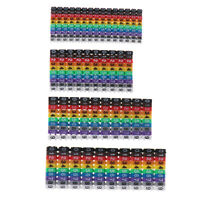 Cable Markers Colourful C-Type Marker Number Tag Labels For Wire 1.5/2.5/4/6~GN