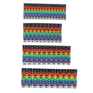 Cable Markers Colourful C-Type Marker Number Tag Label For Wire 1.5/2.5/4/ 6mm²