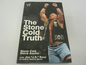 """Stone Cold Steve Austin """"The Stone Cold Truth"""" WWE signed hardcover book COA"""