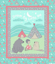CAMP WEE ONE FABRIC PANEL DREAM BIG LITTLE ONE BABY QUILT TOP CP61035 NEW