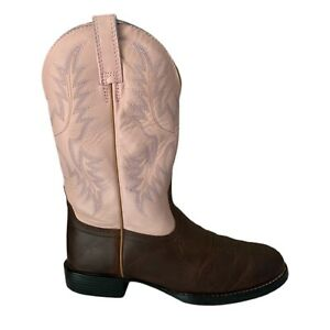 Ariat Boots Ariat Heritage Stockman Boots Pink Cowgirl Boots - Women's 6.5B