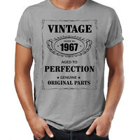 Men's 50th Birthday T-Shirt Est 1967 Vintage Man Fiftieth 50 years Funny Gift