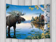 Wild Animal Moose Art Wall Hanging Mandala Tapestry Hippie Throw Bohemian Dorm