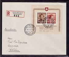 Schweiz, Mi-Nr. Block 6, Trachten 1941, portogerecht auf  OrtsBrief (21272)