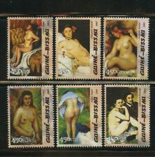 Edward Degas Nude Paintings Art Set of 6 mnh stamps 2005 Guinea-Bissau