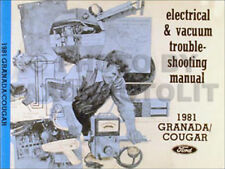 1981 ford granada mercury cougar electrical and vacuum troubleshooting  manual 81