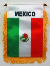 Mexico MINI BANNER FLAG GREAT FOR CAR & HOME WINDOW MIRROR HANGING
