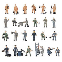 25pcs Hand Painted Railroad Worker Man Figurines Train Railways HO 1 to 87 Guage