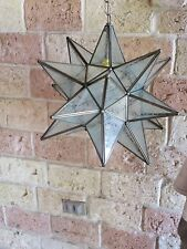 "Moravian Star -18"" glue chip glass  18 point with canopy"