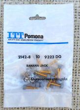 10 PC. POMONA 2142-8 INSULATED MINIATURE BANANA JACK,  GRAY