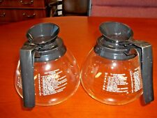 2 BLACK - 12 Cup Commercial Coffee Pots Carafes Decanters for BUNN - REGULAR
