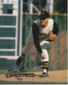 Vern Law W/ 2 Inscriptions #0   8x10 Signed Photo w/ COA  Pittsburgh Pirates