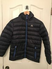 Boys Snozu Blue Down Puffy Hooded Jacket Coat Size M (10/12)