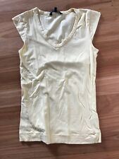 Ladies Cute Yellow Cotton Sleeveless Top By French Connection- Size S Aus 8/10