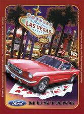Ford Mustang Las Vegas Blechschild 8x11 cm Blechkarte Sign PC-201/439