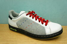 Adidas Mens Size 6 Stan Smith  White / Grey / Red Skate Trainers  Retro Leather