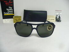 New Vintage B&L Ray Ban Small Cats W0539 Blue G-15 Gray Square Aviator USA NOS