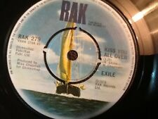 EXILE . KISS YOU ALL OVER . 1978 . EXcellent vinyl single