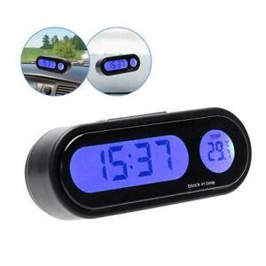 Auto Thermometer Mini LCD Digitaluhr Armaturenbrett Uhr für Auto PKW LKW KFZ NEU