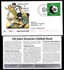 Fußball.100 Jahre Deutscher Fußball-Bund(DFB).FDC(2)-Brief+Beschreibug.BRD 2000