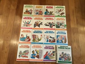 """1981 Set of 15 """"The Power of"""" Children's Books + 13 Dramarized Power Tales"""