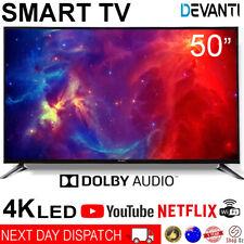 New 50 Inch LED LCD 4K Smart TV Ultra HD Slim Television Netflix YouTube Black