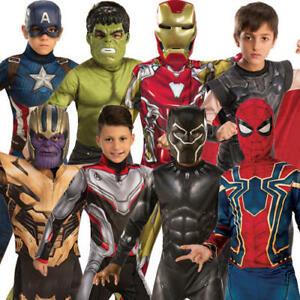 Avengers Endgame Boys Fancy Dress Marvel Comic Superhero Kids Book Day Costumes