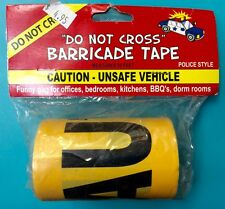 Yellow Police Barricade CAUTION - UNSAFE VEHICLE Caution Tape 50ft Roll Gag Gift