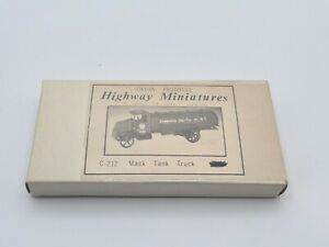 HO SCALE JORDON PRODUCTS HIGHWAY MINIATURES - 1923 MACK TANK TRUCK - KIT #C-212