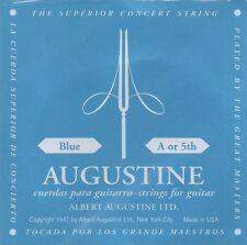 Augustine Corde à l'unité Blue A or 5th Guitare Classique Tirant Fort