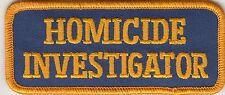 "FLORIDA STATE POLICE ""HOMICIDE INVESTIGATOR"" TAB ROCKER PATCH FL"
