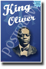 King Oliver Famous Jazz Musician - New Famous Person Music Poster (fp493)