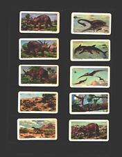 tea cards brooke bond dinosaurs ( canada ) 1963 full set