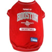 Houston Rockets NBA Pets First Dog Pet Tee Shirt Gray,  Sizes XS-L
