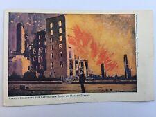 San Fransisco Earthquake Fire Flames American Journal Examiner Postcard A22