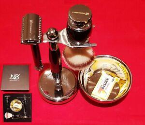 Complete Men Shaving Set Safety Razor & Brush + Bowl Stand Men Gift Kit