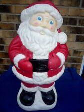 "JOLLY SANTA TABLE TOP CHRISTMAS LIGHTED BLOW MOLD 19"""