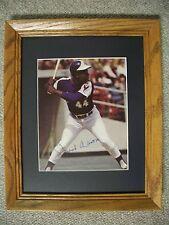 HANK AARON: Autographed 8x10 / Oak Framed Matted 16x13 (Braves)-WOW! L@@K! NICE!