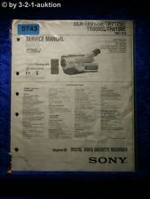 Sony Service Manual DCR TRV120E TRV125E TR8000E TR8100E Level 1 (#5743)