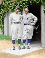 Ty Cobb & Walter Johnson #1 Photo 11X14 -1925 COLORIZED