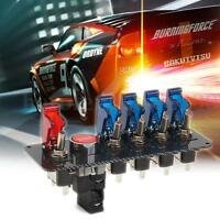 6 In 1 Car Racing 12V LED Toggle Ignition Switch Panel Engine Start Push Button