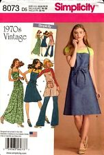 Simplicity Sewing Pattern 8073 Ladies 4-12 70s Wrap Apron Dress