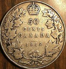 1912 CANADA SILVER 50 CENTS COIN