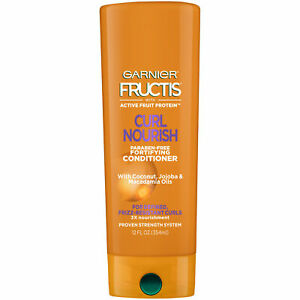 Garnier Fructis Curl Nourish Conditioner for nourished Frizz Resistant Curls 12