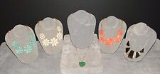 Stephen & Co. Statement Flower Necklaces From Nordstrom Lot of 5 NEW ($108 MSRP)