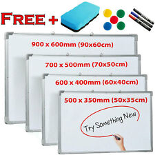 More details for magnetic whiteboard small large white board dry wipe office home school notice