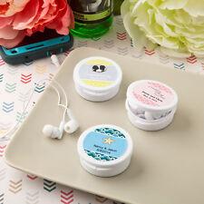 40 Personalized Ear Bud Favors Headphones Wedding Shower Party Event Bulk Lot